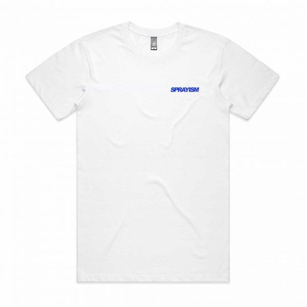 Sprayism True Royal Logo T Shirt White Front