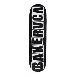 Baker Skateboard Deck x RVCA BAKERRVCA Black 8