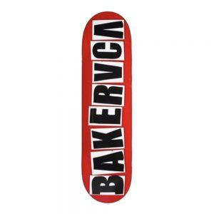 Baker Skateboard Deck x RVCA BAKERRVCA Red 8.25