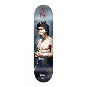 "DGK Skateboard Deck x BRUCE LEE FOCUSED 8"" Dirty Ghetto Kids Collab"