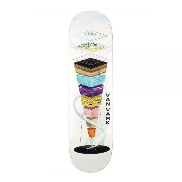 Real Skateboard Deck Tanner Van Vark Topography 8.25