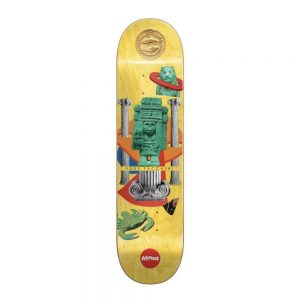 SPRAYISM Almost Skateboard Deck Relics Yuri Facchini 8.25 Yellow R7
