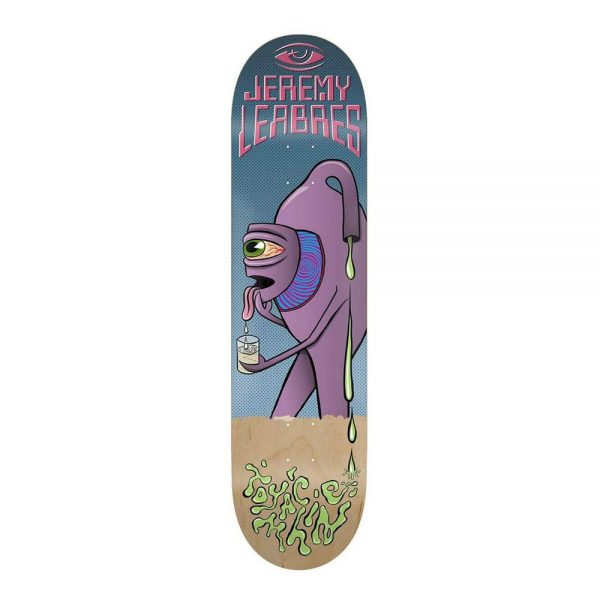 Toy Machine Skateboard Deck Face Off Jeremy Leabres 8.375